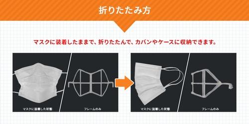 立体インナーマスク 折りたたみコンパクトフレーム